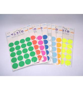 Round label sticker 13mm color .Small pack