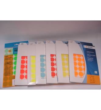 Round label sticker 19mm color.Big pack