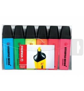 Stabilo Boss Highlighter 6 color set.