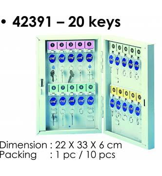 Steel Key Box 20 keys.KB-42391