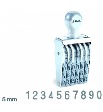 10 Digit Number stamp 5 mm,Shiny N310A