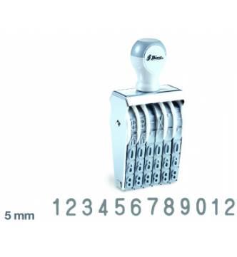12 Digit Number stamp 5 mm,Shiny N312