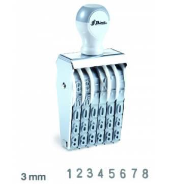 8 Digit Number stamp 3mm,Shiny N58