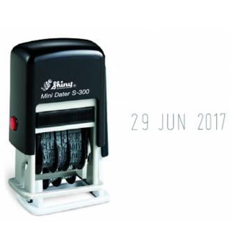 Self ink mini dater stamp, Shiny S-300