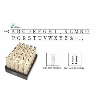 Multi Joint Alphabet 12mm Stamp Set #S (A-Z,&-.,)
