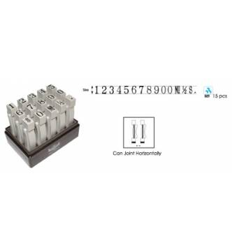 Multi Joint Number 12mm Stamp Set #S (1~0,& $ 1/2) - #S