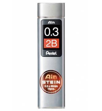 Pencil lead 0.3mm 2B Pentel Ain Hi-Polymer.