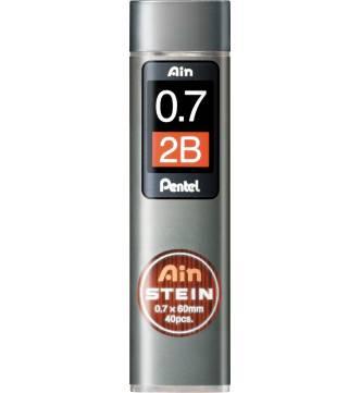 Pencil lead 0.7mm 2B Pentel Ain Hi-Polymer