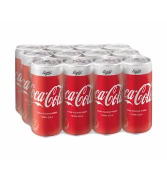 Coke Light canned drink 12 x 320ml