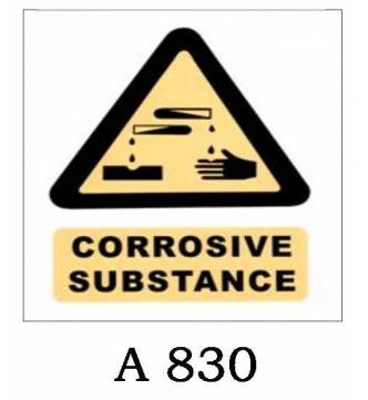 Corrosive Substance Plastic Sign A-830
