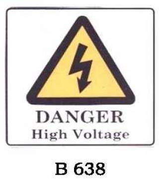 DANGER HIGH VOLTAGE Plastic Sign.B-638