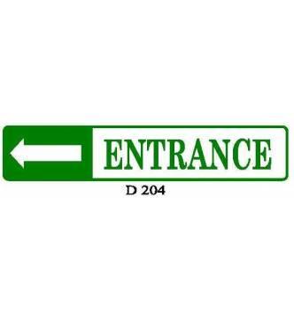 ENTRANCE Plastic Sign.D204