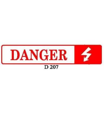 DANGER Plastic Sign.D207