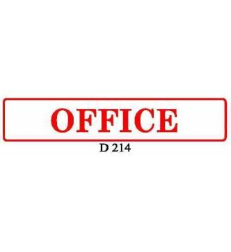 OFFICE Plastic Sign.D214