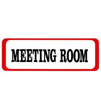 MEETING ROOM Plastic Sign.D212