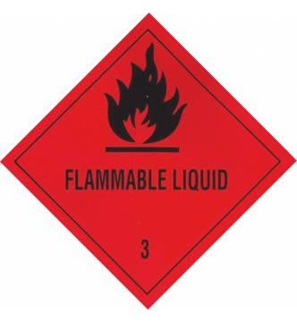 FLAMMABLE LIQUID.Sticker Sign. 4 x 4 inch.