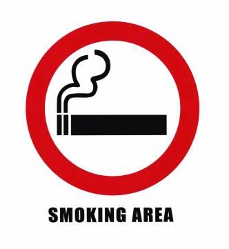 Smoking Sticker Sign. 6 x 6 inch.