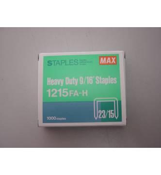 Max Staple 2315 / 1215-15mm. (1000's)