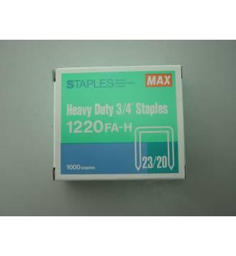 Max staple 2320 / 1220-20mm.(1000's)
