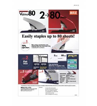 Heavy duty stapler Max Vaimo 80 (6~10mm)