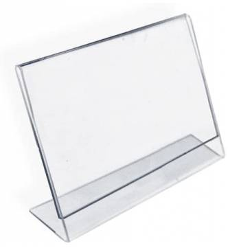 A4 Acrylic Card Stand 297 X 210mm.Landscape.