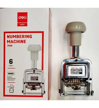 Auto numbering stamper, 6 digit. Deli 7506
