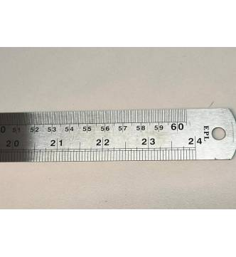 Stainless Steel Ruler  60 cm, 24 inches.