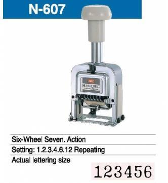 Auto numbering stamper,6 digit.N 607