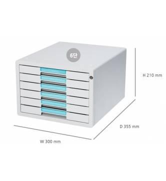 Sysmax 1126K 6 drawer Key Type File Cabinet