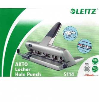4 hole punch,Leitz 5114 Perforator. 3mm,30 sheets.